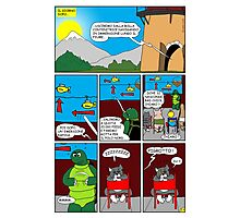 """Rick the chick  """"THE MAGIC SHELL (Il briefing) parte 27"""" Photographic Print"""