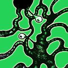 Green Tentacle Worm with Eyes Thing by Nik Usher