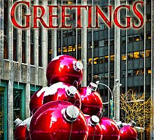 City Style Seasonal Greetings, a Holiday Card by Chris Lord