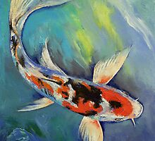 Showa Butterfly Koi by Michael Creese