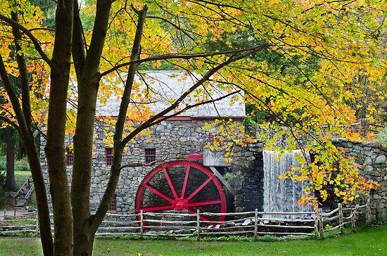 Sudbury Grist Mill in the Fall by Steve Borichevsky