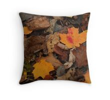 The Heart of the Leaf Grows Red Throw Pillow