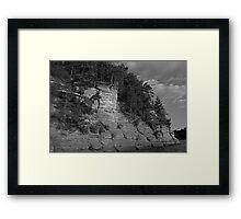 Sandstone Formation in Black and White Framed Print
