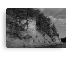Sandstone Formation in Black and White Canvas Print