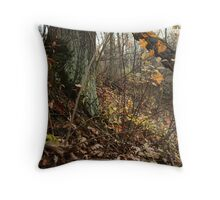 A Sloping Forest Scene Throw Pillow