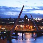 Peace Bridge under construction, Derry by NiallMcC