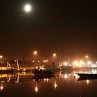 Lisahally Port by Moonlight by NiallMcC