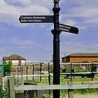 Ashby Canal Signpost, at Moira Lock by Rod Johnson