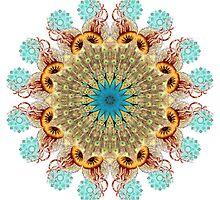 Peacock Jellyfish Mandala by Jamila Tazewell