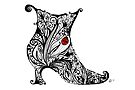 Vintage Boot Doodle by Jacqueline Eden