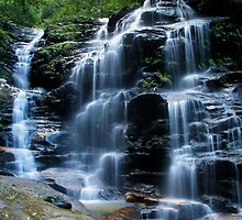 Sylvia Falls, Blue Mountains by Michael Vickery