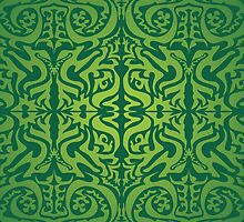 Etnic Pattern Green by elangkarosingo