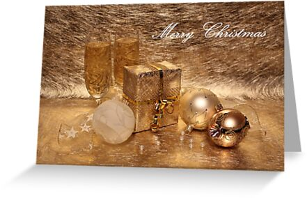 Merry Christmas in Gold by Jan Vinclair