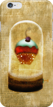Cupcake music crystal iPhone Cases by Ruth Fitta-Schulz