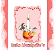 Christmas Candle Greeting card/poster by Shoshonan