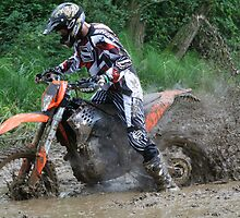 Motorbike stuck in mud by NKSharp