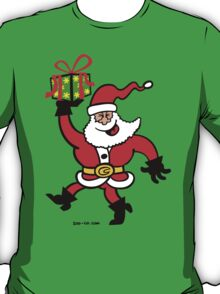 Santa Claus Brings a Gift T-Shirt