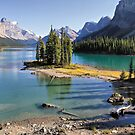 Famous Spirit Island on Maligne Lake, Jasper NP by Teresa Zieba