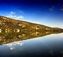 mirror mountain in Kastoria Lake (Makedonia, Greece) by Tania Koleska