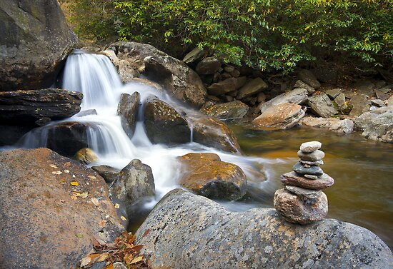 Harmony - WNC Flowing Waterfall Landscape by Dave Allen
