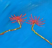 Coral Tree Flowers  by Christine Chase Cooper