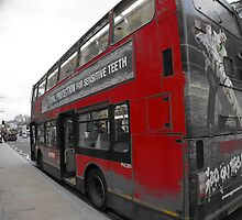 red double decker london's bus by mariette sardin
