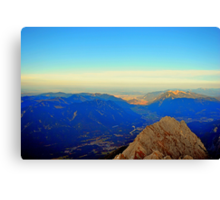 Hight 2.962 m, Visibility 100 km Canvas Print