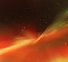 Multi-colored Aurora Borealis by geiroye