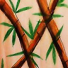 Bamboo,  4th version, watercolor by Anna  Lewis