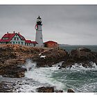 Portland Head Light @ Christmas by Richard Bean
