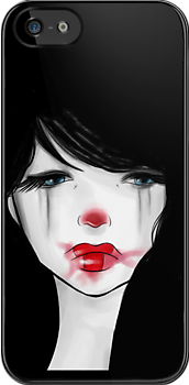 clown girl II iphone case by lunaticpark
