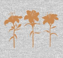 Orange Lilies T-shirt by Amanda Latchmore