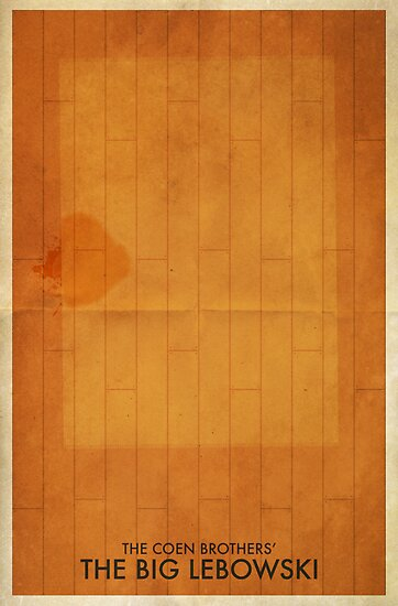 Minimalist Movie Poster: The Big Lebowski by timcostello