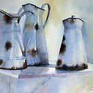 Old Enamel Pitchers by Ann Mortimer