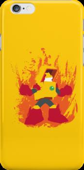 Heat Man Fiery Vector Shirt by thedailyrobot
