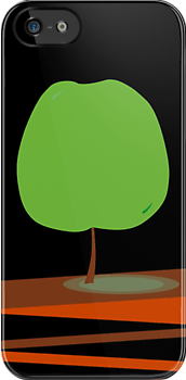 Green Apple Tree iPhone Case by Denis Marsili