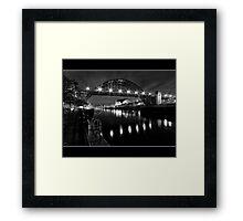 River Tyne Night Shot, Newcastle Upon Tyne Framed Print