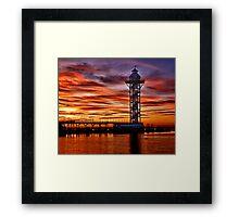Sunset at Dobbins Landing Framed Print