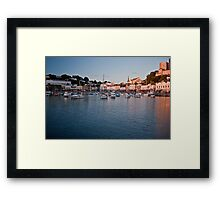 Torquay sunset Framed Print