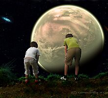 Boys Looking Over the World by Mike Leahy