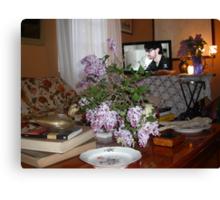 UN TAVOLINO e le serenelle ..2500 VISUALIZZAZ-- 2013..FEATURED RB EXPLORE 13 NOVEMBRE 2011 :::: .... Canvas Print