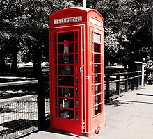 Red Telephone Box 4 by Zoe Toseland