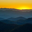 Afterglow - Blue Ridge Parkway Sunset NC by Dave Allen