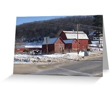 Wisconsin Red Barn Greeting Card
