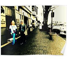 Movement on a city street at midday Poster