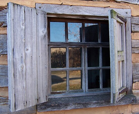 Landis Valley Log Cabin Window By Purplefoxphoto Redbubble