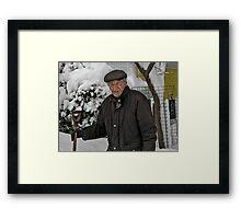 Tom Shovels snow Framed Print