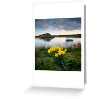 Spring Evening Alnmouth Greeting Card