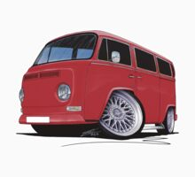 VW Bay-Window Camper Van (D) Red by Richard Yeomans