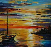 SPRING HARBOR - LEONID AFREMOV by Leonid  Afremov